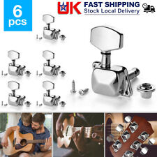 More details for 6pc guitar machine heads electric/acoustic tuning pegs tuner string winders keys