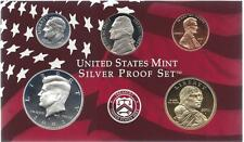 2003-S PARTIAL SILVER PROOF SET CENT, NICKEL, DIME, HALF AND SAC DOLLAR  5 COINS