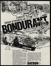 1970 DATSUN 2000 Race Car - Bondurant School Of High Performance - VINTAGE AD