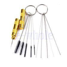 11pc Airbrush Spray Cleaning Repair Tool Kit Stainless Steel Needle Brush Set HM