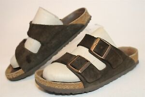 Birkenstock Womens Size 8 39 Arizona Suede Slide Soft Footbed Germany Made Shoes
