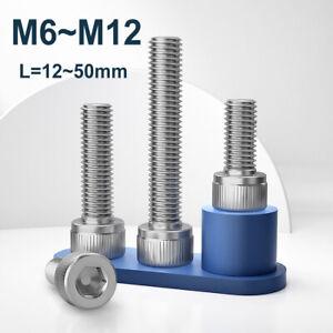 M6 ~ M12 Left Hand Thread Socket Cap Head Screw 304 Stainless Steel Allen Bolts