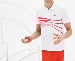Lacoste Sport Polo Shirt BNWT size 3XL (8) White Ultra Dry Mens Tennis DH3387