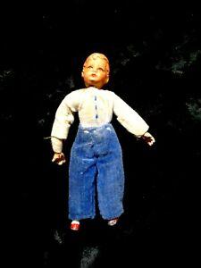 Caco, Biegepüppchen,Metall ,Puppenhaus ,  50er ,Junge, 9 cm