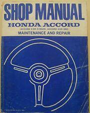 HONDA ACCORD 3 & 4 porte modelli 1982-84 ORIGINALE SHOP MANUAL (seminario)