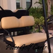 NEW COMPLETE EZGO Golf Cart Front Seat Set Fits Medalist TXT ST MPT 1994+ BLACK