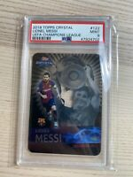 LIONEL MESSI 2018 Panini TOPPS CRYSTAL #122 PSA 9 MINT UEFA Champions