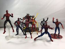 Lot of 8 Spider Man Action Figures Marvel Toy Biz Hasbro Collectables And Rares.