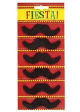 Mexican Fiesta Fake Moustaches Pk6