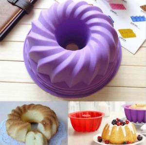 Moule Cuisson Silicone Bakeware Cuisine Outil Pour Pain Gâteau Forme Anneau Mode