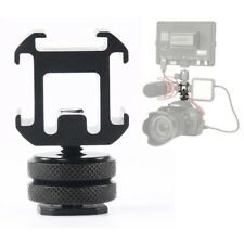 Triple Hot Shoe Mount Adapter Microphone LED Video Light for DSLR Camera Surpris