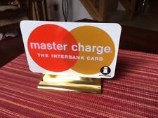 Vintage Master Charge Interbank Plastic Display Sign (7''x5'') (New, Old Stock!)