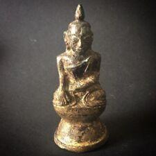 Buddha Asia  Thailand Laos ANTIQUE BUDDHA BURMA STATUE FIGURE OLD Buddha Bronze
