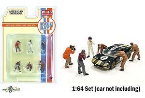 Race Day Figur SET 6 Figuren für Hot wheels 1:64 American Diorama Mijo