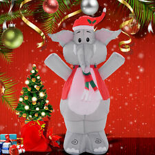 4 Ft Airblown Inflatable Christmas Xmas Elephant Decor Lighted Lawn Yard Outdoor