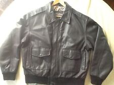 U.S. Army Air Force Style Leather Flyer's Jacket Type A-2 Size Large Reg.