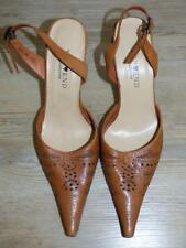 TOP END HONEY LEATHER POINTY HEELS 7.5 LASERCUT stiletto SLINGBACK SEXY new SHOE