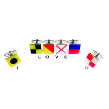 3 Paia Set Regalo. marinai NAUTICHE Bandiera alfabeto GEMELLI. scegliere qualsiasi 6 Designs