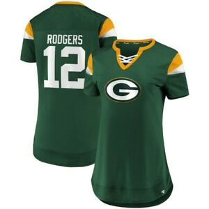 AARON RODGERS GREEN BAY PACKERS NFL -Women's Athena Name & Number Fashion Notch