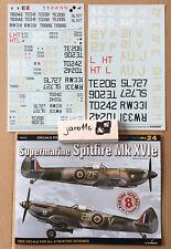 *Supermarine Spitfire Mk XVIe, TopColors,  KAGERO -Decals FREE