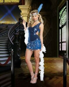 10920's FLAPPER GIRL COSTUME CHARLESTON GATSBY LADIES FANCY DRESS