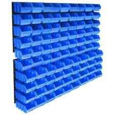 vidaXL 146282 Kit de Bacs de Stockage avec Panneaux Muraux - 96 Pièces, Bleue
