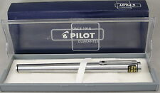 Pilot TOW Flighter Stainless Steel & Chrome Fountain Pen - Fine Nib - New