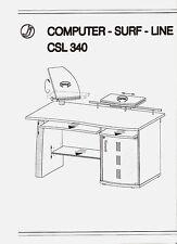 Grau silberner Schreibtisch Computertisch mit vielen Besonderheiten / NP 449,99€