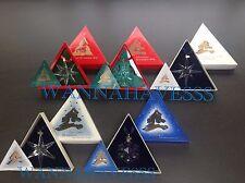 SWAROVSKI set 1991-1995 annual snowflake ornaments in box with certificates !!!