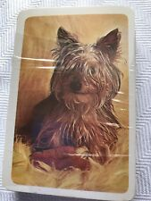 vintage Yorkshire Terrior playing card deck Nos Yorkie lover collectible