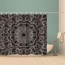 Petal Rotation Pinhole 3D Shower Curtain Waterproof Fabric Bathroom Decoration