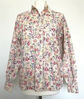 Abercrombie & Fitch Vintage Floral Shirt Lace Peter Pan Collar Dainty Size 8
