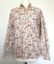 Abercrombie & Fitch Vintage Floral Shirt Dentelle Peter Pan Collier Dainty Taille 8