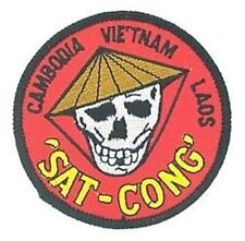 Sat Cong Cambodia Vietnam Laos War Red Military Embroidered Patch