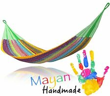 Multi Color Handwoven Mexican Mayan QUEEN SIZE FAMILY Hammock G3