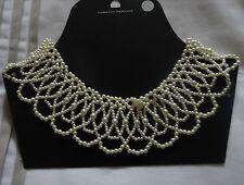 Doroty Perkins con cuentas collar de perlas (aclaramiento Negro o Blanco)