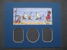 Passe-Partout pour encadrement bleu 30 x 24 cm pour enfant