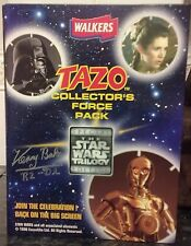 COMPLETE STAR WARS TAZO COLLECTOR'S FORCE PACK SIGNED BY KENNY BAKER. AUTOGRAPH