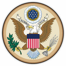 Stati Uniti d'America USA stemma coat of arms etichetta sticker 12cm x 12cm