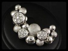 Designer Diamant Brosche ca. 0,70ct Goldschmiedearbeit   10g 585/- Weißgold