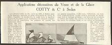 08 SEDAN COTTY APPLICATIONS DECORATIVES DU VERRE ET DE LA GLACE 1937