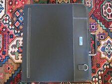 Piquadro black leather+microfiber laptop briefcase/compendium PB2564LA/N