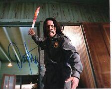Danny Trejo Machete Kills Hand Signed 8x10 Photo W/COA With A Bloody Machete
