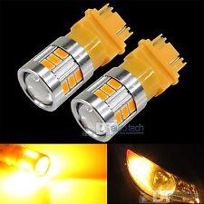 2X 3157 470 Lumen High Power LED Projector Amber/Yellow Turn Signal Lights Bulbs