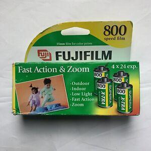 Fujifilm Superia Xtra 4 Rolls Film Sealed Box 800 Speed 35 Mm Film Exp 12/05
