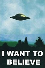 THE X-FILES ~ MULDER OFFICE ~ I WANT TO BELIEVE 24x36 TV POSTER UFO Agent Alien