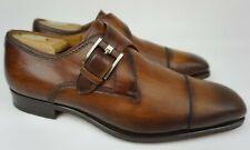 Magnanni Lennon Cuero Brown Leather Single Monk Strap Loafer Men's Size 9.5 Wide