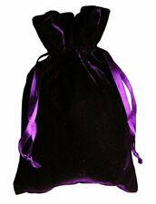 """Purple Velvet Tarot Bag. Size 6"""" x 9"""". Velvet Pouch For Tarot Cards, Dices"""