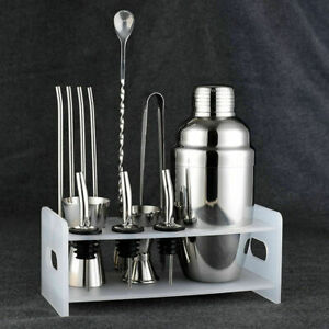 Stainless Steel Cocktail Shaker Mixer Drink Bartender Martini Tool Bar Set Kits