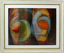 An original 1960's abstract painting. English school ? Signed L Rawding Framed